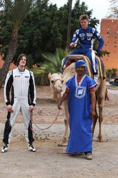 (L to R): Will Bratt (GBR) and Jack Clarke (GBR). FIA Formula Two Championship, Rd2,  Marrakech, Morocco. Thursday 29 April 2010.