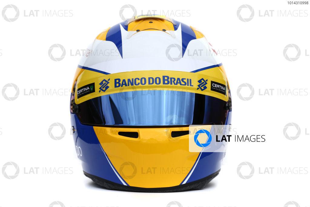 Albert Park, Melbourne, Australia. Helmet of Marcus Ericsson, Sauber.  Thursday 12 March 2015. World Copyright: LAT Photographic. ref: Digital Image 2015_Helmet_022