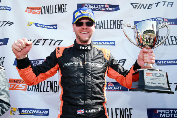 2017 Ginetta GT5 Championship Rockingham, England. 29th-30th April 2017, Adrian Campbell-Smith Ginetta GT5 World copyright. JEP/LAT Images