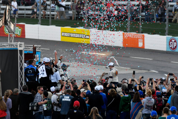 2017 Monster Energy NASCAR Cup Series STP 500 Martinsville Speedway, Martinsville, VA USA Sunday 2 April 2017 Brad Keselowski celebrates the win in victory lane World Copyright: Scott R LePage/LAT Images ref: Digital Image lepage-170402-mv-5777