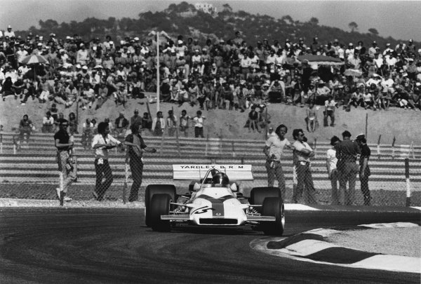 Paul Ricard, Le Castellet, France. 2nd - 4th July 1971.Pedro Rodriguez (B.R M. P160), retired, sideways action. World Copyright: LAT Photographic.Ref:  3886 - 19A
