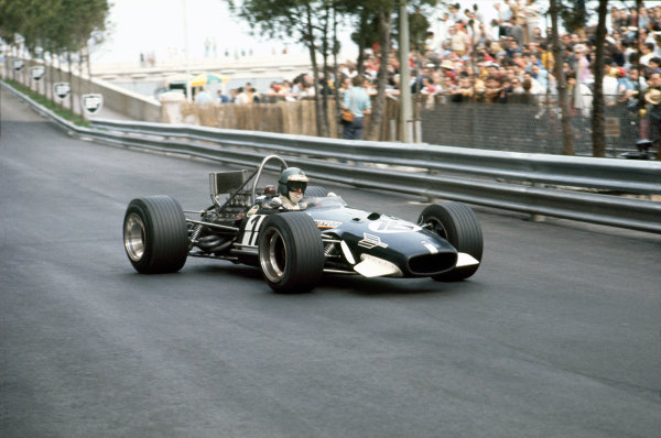 Monte Carlo, Monaco. 18 May 1969 Piers Courage, Brabham BT26-Ford, 2nd position, action World Copyright: LAT Photographic. Ref: 69MON56.