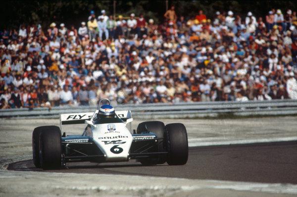 Dijon-Prenois, France. 27-29 August 1982. Keke Rosberg (Williams FW08 Ford) 1st position. Action. Ref: 82 SWI 01. World Copyright - LAT Photographic