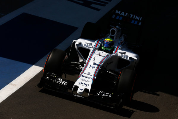 Silverstone, Northamptonshire, England. Friday 03 July 2015. Felipe Massa, Williams FW37 Mercedes. World Copyright: Alastair Staley/LAT Photographic. ref: Digital Image _79P9223