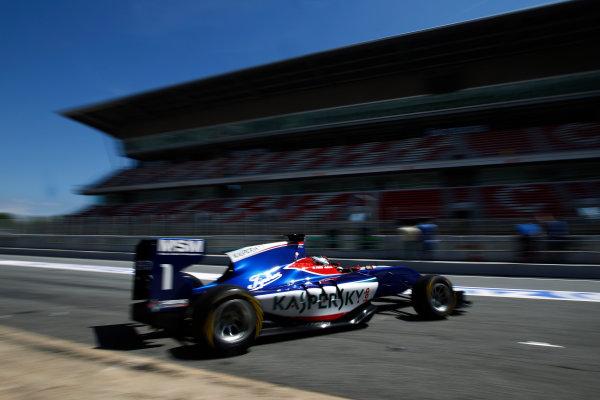 2015 GP3 Series Test 3 - Circuit de Catalunya, Barcelona, Spain. Thursday 23 April 2015. Antonio Fuoco (ITA, Carlin)  Photo: Sam Bloxham/GP3 Series Media Service. ref: Digital Image _G7C0523