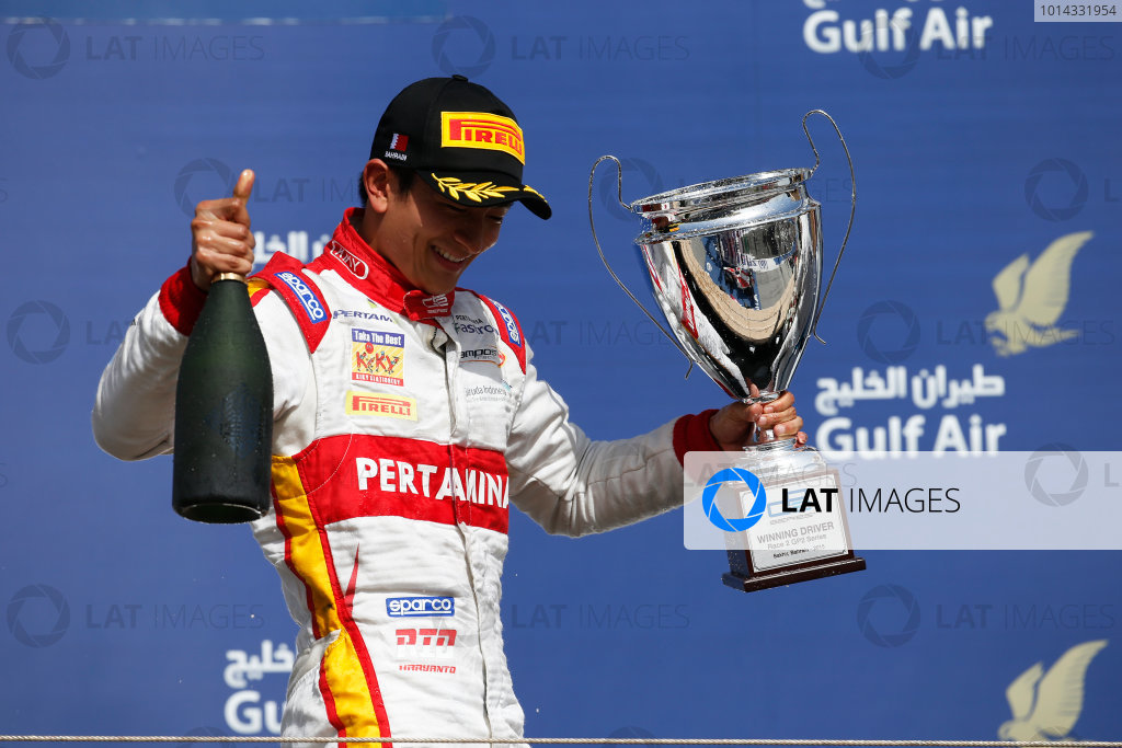 2015 GP2 Series Round 1 - Bahrain International Circuit, Bahrain. Sunday 19 April 2015. Rio Haryanto (INA, Campos Racing)  Photo: Glenn Dunbar/GP2 Series Media Service. ref: Digital Image _W2Q9270