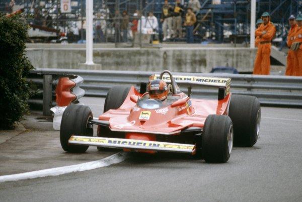 1980 Monaco Grand Prix.Monte Carlo, Monaco. 15-18 May 1980.Gilles Villeneuve (Ferrari 312T5), 5th position.World Copyright: LAT PhotographicRef: 35mm transparency 80MON19