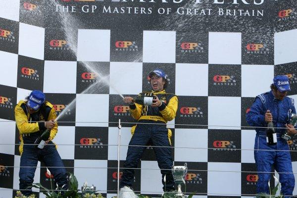 2006 F3000 Championship Silverstone, England. 13th August 2006 Podium - Caceres, Rocha, Martini. World Copyright - Ebrey/LAT Photographic