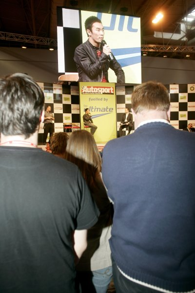 2007 Autosport International ShowNEC, Birmingham. 11th - 14th January 2007.Takuma Sato on stage.World Copyright: Alastair Staley/LAT Photographicref: Digital Image _F6E0968