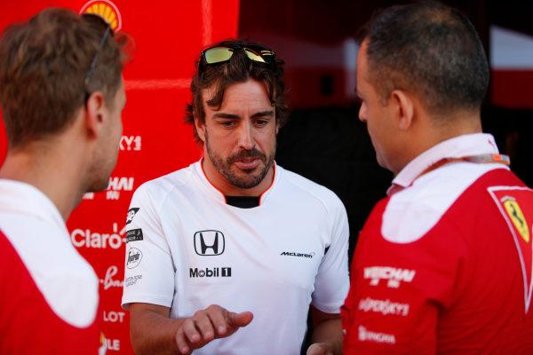 Hungaroring, Budapest, Hungary. Friday 22 July 2016. Fernando Alonso, McLaren. World Copyright: Glenn Dunbar/LAT Photographic ref: Digital Image _W2Q6573