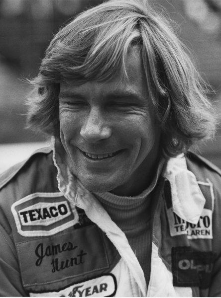 Osterreichring, Zeltweg, Austria. 11th - 13th August 1978. James Hunt (McLaren M26-Ford), retired, portrait.  World Copyright: LAT Photographic.  Ref:  B/W Print.