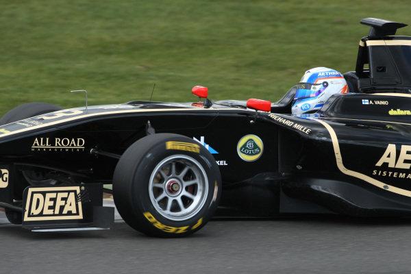 Aaro Vainio (FIN) Lotus GP. GP3 Series Testing, Silverstone, England, 12 April 2012.
