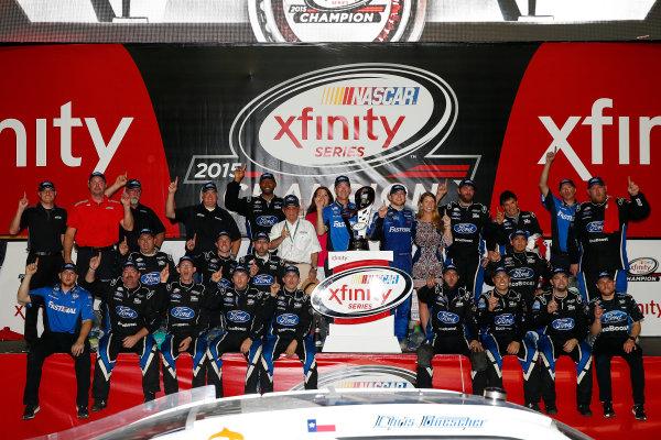 20-21 November, 2015, Homestead, Florida USA Chris Buescher celebrates his Xfinity championship ?2015, Russell LaBounty LAT Photo USA