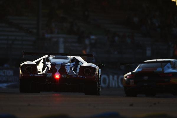 2017 Le Mans 24 Hours Circuit de la Sarthe, Le Mans, France. Saturday 17 June 2017 #69 Ford Chip Ganassi Racing Ford GT: Ryan Briscoe, Richard Westbrook, Scott Dixon World Copyright: Rainier Ehrhardt/LAT Images ref: Digital Image 24LM-re-10255