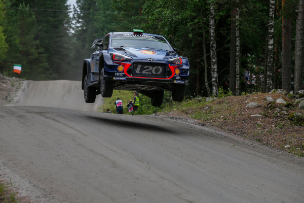 2017 FIA World Rally Championship, Round 09, Rally Finland / July 27 - 30, 2017, Hayden Paddon, Hyundai WRC, Action  Worldwide Copyright: McKlein/LAT