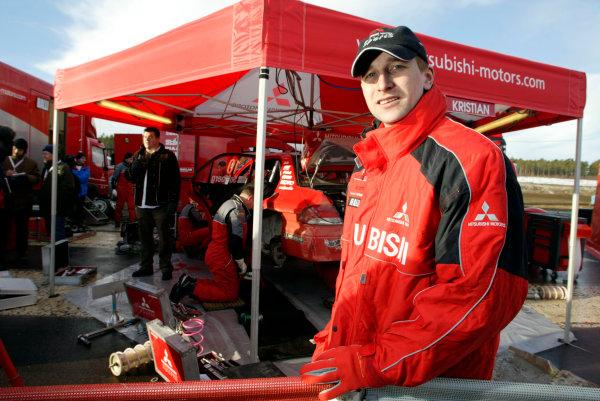 2004 FIA World Rally Champs. Round two, Swedish Rally.5th-8th February 2004.Kristian Sohlberg,Mitsubishi, portrait.World Copyright: McKlein/LAT