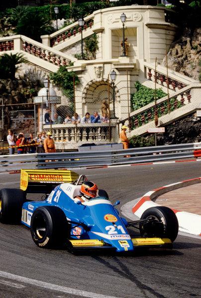 1986 Monaco Grand Prix. Monte Carlo, Monaco. 8-11 May 1986. Piercarlo Ghinzani (Osella FA1G Alfa Romeo) at Loews Hairpin. Ref-86 MON 70. World Copyright - LAT Photographic