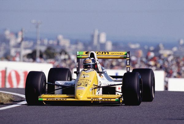 1989 Japanese Grand Prix.Suzuka, Japan.20-22 October 1989.Paolo Barilla (Minardi M189 Ford).Ref-89 JAP 27.World Copyright - LAT Photographic