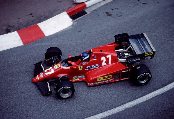 1983 Monaco Grand Prix.Monte Carlo, Monaco.12-15 May 1983.Patrick Tambay (Ferrari 126C2B) 4th position.Ref-83 MON 48.World Copyright - LAT Photographic