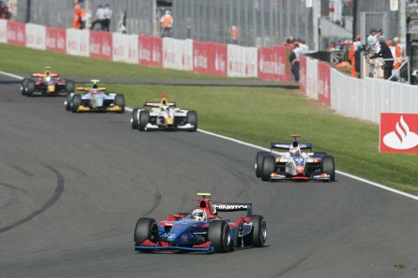 2007 GP2 Series Round 5. Silverstone, England. 8th July 2007. Sunday Race.Andreas Zuber (GER, iSport International). Action. World Copyright: Andrew Ferraro/GP2 Series Media Service.ref: Digital Image _F6E6565