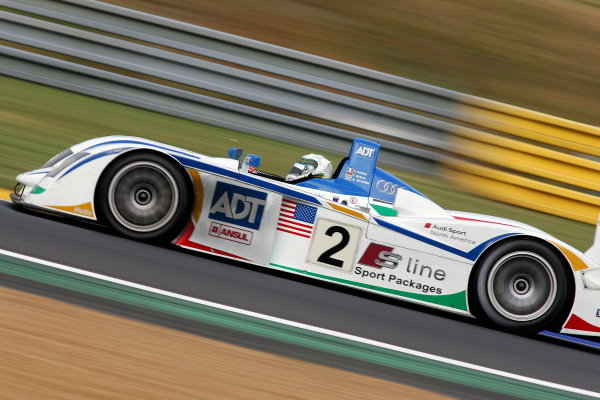 Frank Biela (GER) / Emanuelle Pirro (ITA) /  Alan McNish(GBR), Champion Racing Audi R8, on the finished the day second fastest.