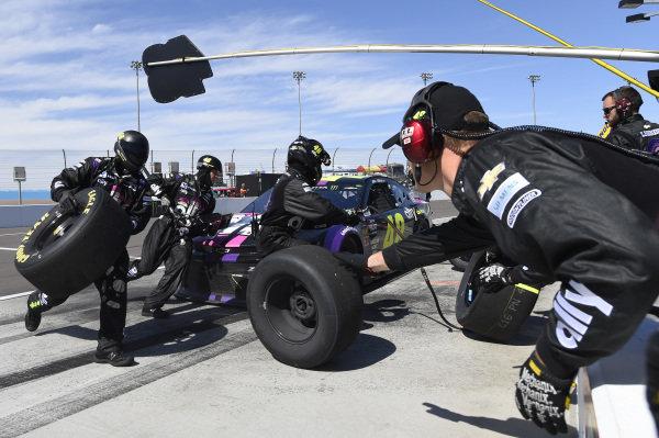 #48: Jimmie Johnson, Hendrick Motorsports, Chevrolet Camaro Ally, makes a pit stop