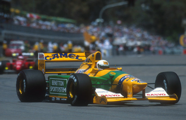 1992 Australian Grand Prix.Adelaide, Australia.6-8 November 1992.Martin Brundle (Benetton Ford) 3rd position.Ref-92 AUS 06.World Copyright - LAT Photographic