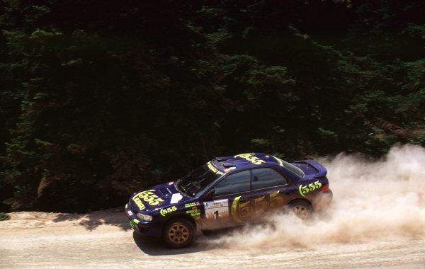 1996 World Rally Championship.Acropolis Rally, Greece.Colin McRae/Derek Ringer (Subaru Impreza 555), 1st position.World - LAT Photographic
