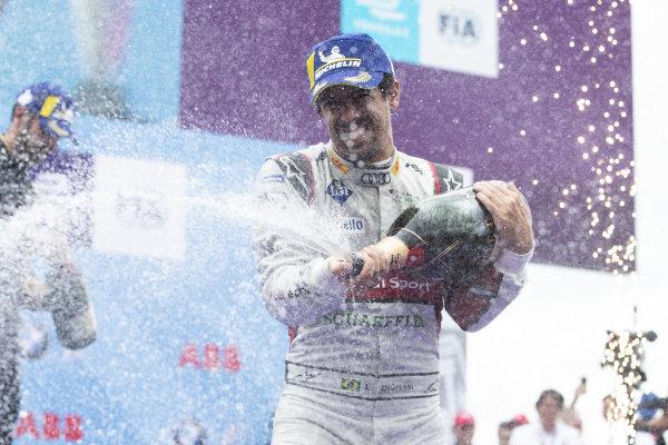 Lucas Di Grassi (BRA), Audi Sport ABT Schaeffler, 1st position, celebrates on the podium