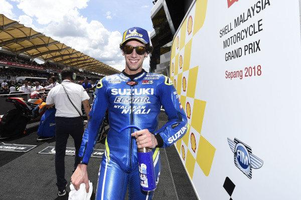 Second place Alex Rins, Team Suzuki MotoGP.