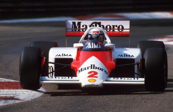 Alain Prost (FRA) McLaren MP4-2B.Formula One World Championship, Rd12, Italian Grand Prix, Monza, Italy, 8 September 1985.