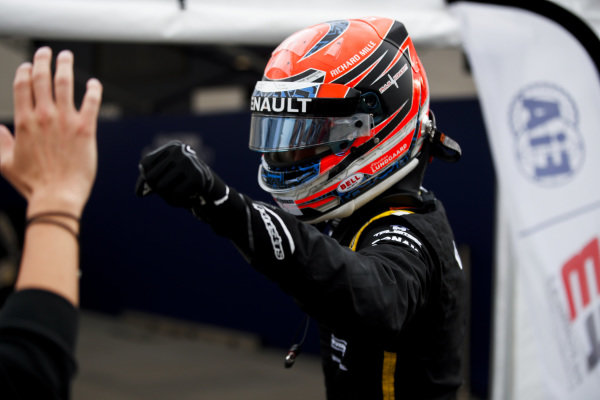 AUTODROMO NAZIONALE MONZA, ITALY - SEPTEMBER 06: Pole Sitter Christian Lundgaard (DNK) ART Grand Prix celebrates in parc ferme during the Monza at Autodromo Nazionale Monza on September 06, 2019 in Autodromo Nazionale Monza, Italy. (Photo by Joe Portlock / LAT Images / FIA F3 Championship)