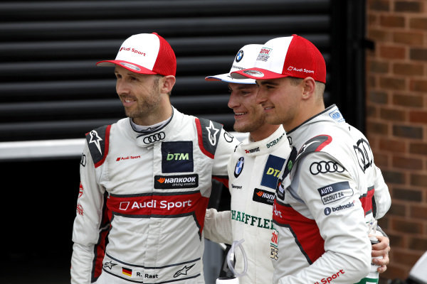 Top 3 after the race, Race winner Marco Wittmann, BMW Team RMG, René Rast, Audi Sport Team Rosberg, Nico Müller, Audi Sport Team Abt Sportsline.