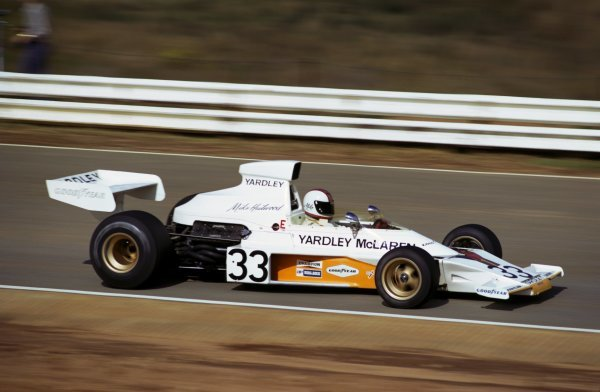 Mike Hailwood (GBR) McLaren M23 claimed his second and final podium finish when he took third place.