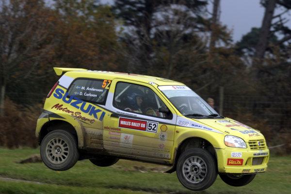 2003 FIA World Rally Champs. Round fourteen Wales Rally GB 6th-9th November 2003.Daniel Carlsson, Suzuki, actionWorld Copyright: McKlein/LAT