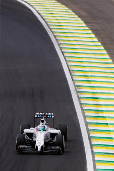 Interlagos, Sao Paulo, Brazil. Saturday 8 November 2014. Felipe Massa, Williams FW36 Mercedes. World Copyright: Charles Coates/LAT Photographic. ref: Digital Image _N7T9536
