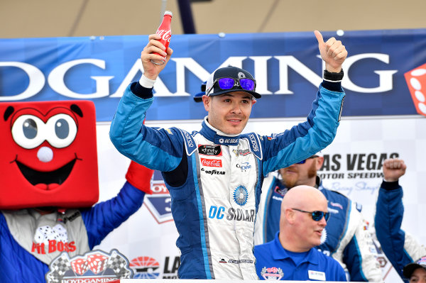 NASCAR Xfinity Series Boyd Gaming 300 Las Vegas Motor Speedway, Las Vegas, NV USA Saturday 3 March 2018 Kyle Larson, Chip Ganassi Racing, Chevrolet Camaro DC Solar wins World Copyright: Rusty Jarrett NKP / LAT Images