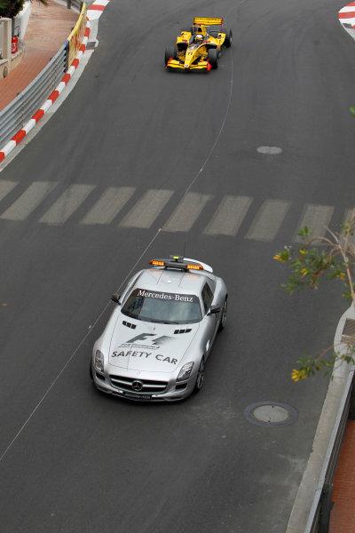 Monte Carlo, Monaco. 15th May 2010. Saturday Race.The Saety car leads Jerome D'Ambrosio (BEL, Dams). Action. Photo: Glenn Dunbar/GP2 Media Service.Ref: _G7C0858 jpg