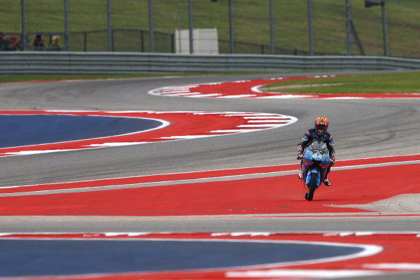 2017 Moto3 Championship - Round 3 Circuit of the Americas, Austin, Texas, USA Saturday 22 April 2017 Aron Canet, Estrella Galicia 0,0 World Copyright: Gold and Goose Photography/LAT Images ref: Digital Image Moto3-Q-500-2249