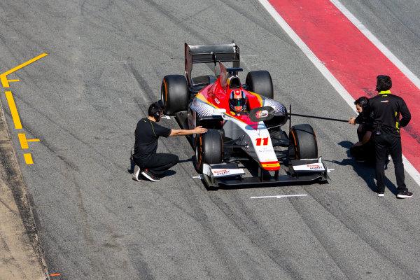 Circuit de Barcelona Catalunya, Barcelona, Spain. Tuesday 14 March 2017. Ralph Boschung (SUI, Campos Racing). Action.  Photo: Alastair Staley/FIA Formula 2 ref: Digital Image 585A8465