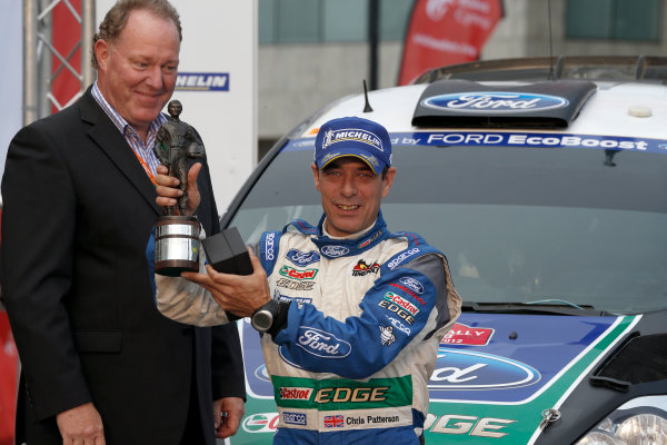 Round 10- Wales Rally GB 12-16/9- 2012.Chris Patterson, Norris trophy, Ford WRC, Podium.Worldwide Copyright: McKlein/LAT
