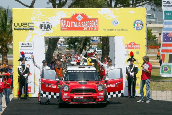 Round 05-Rally Italia Sardegna. 05th-08th May 2011.Dani Sordo, Mini WRC, Podium.Worldwide Copyright: McKlein/LAT