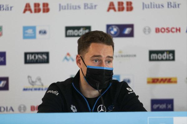 Stoffel Vandoorne (BEL) Mercedes Benz EQ, in the press conference