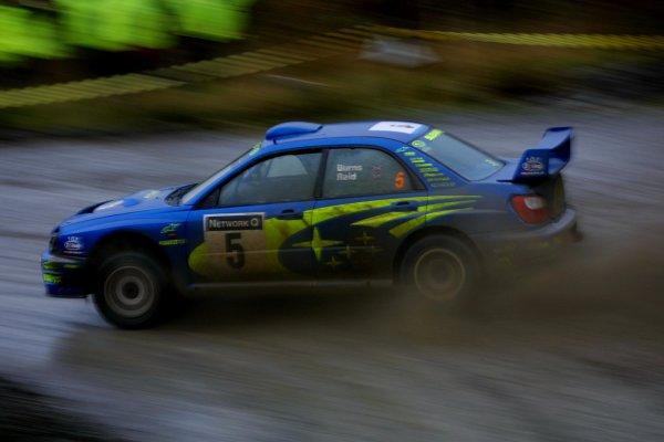 2001 FIA World Rally Championship. Rally Of Great Britain. Cardiff, Wales.  November 22-25th. Richrad Burns, Subaru Impreza WRC. Stage Fourteen. Photo: Paul Dowker/LAT Photographic. World - LAT Photographic.