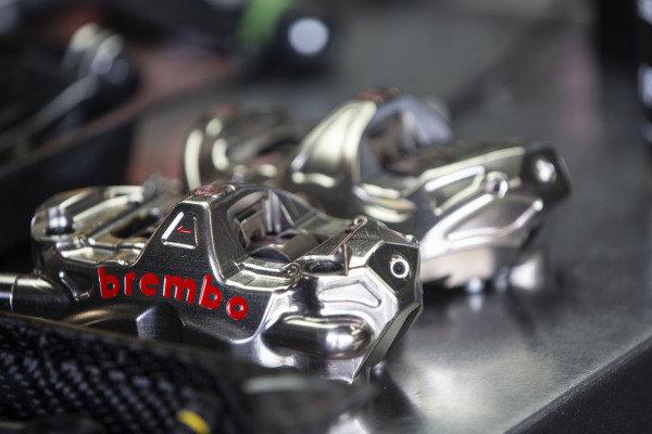 Brembo brake calipers.