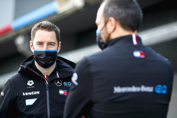 Stoffel Vandoorne (BEL), Mercedes Benz EQ, with Gary Paffett, Reserve and Development Driver and Sporting and Technical Advisor, Mercedes Benz EQ