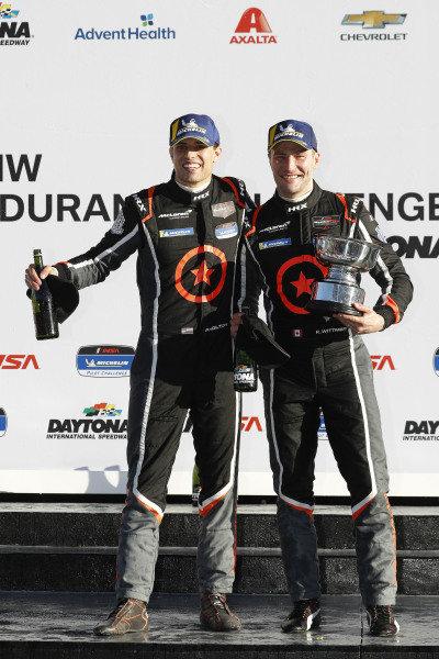 #75 Compass Racing McLaren GT4, GS, Paul Holton, Kuno Wittmer, podium