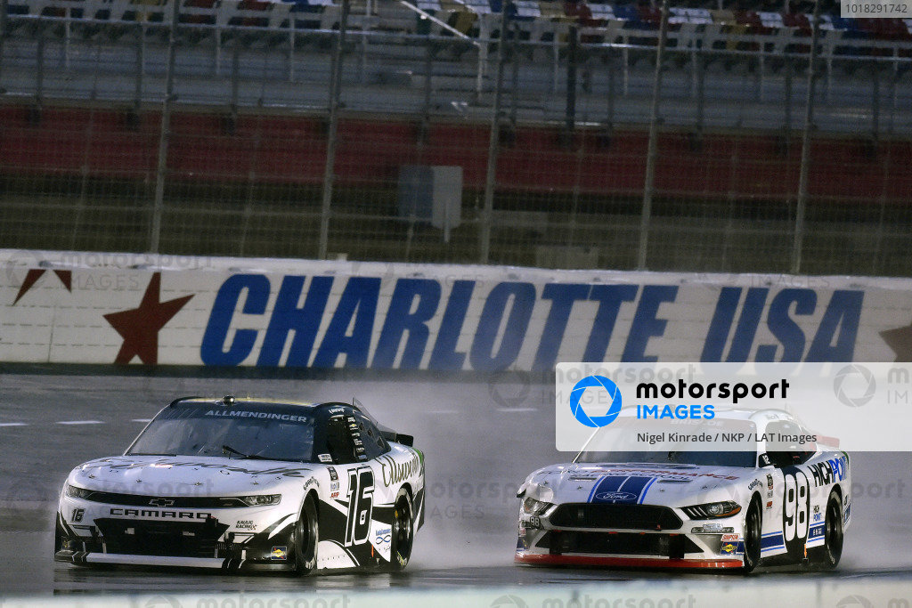 #16: A.J. Allmendinger, Kaulig Racing, Chevrolet Camaro Ellsworth Advisors and #98: Chase Briscoe, Stewart-Haas Racing, Ford Mustang Ford Performance Racing School