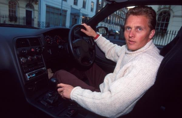 Johnny Herbert at home with his Nissan Skyline.Formula One Drivers At Home.