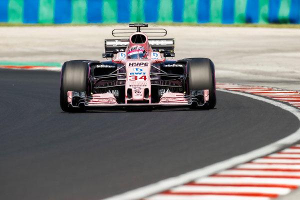 Hungaroring, Budapest, Hungary.  Tuesday 01 August 2017. Nikita Mazepin, Force India VJM10 Mercedes. World Copyright: Joe Portlock/LAT Images  ref: Digital Image _R3I0518